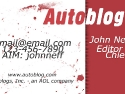 Autoblog Card Design Red
